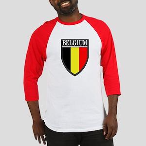 Belgium Flag Patch Baseball Jersey