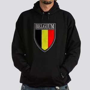 Belgium Flag Patch Hoodie (dark)