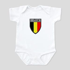 Belgium Flag Patch Infant Bodysuit