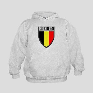 Belgium Flag Patch Kids Hoodie