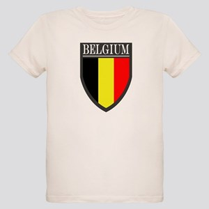 Belgium Flag Patch Organic Kids T-Shirt