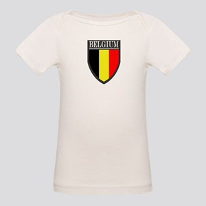 Belgium Flag Patch Organic Baby T-Shirt