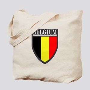 Belgium Flag Patch Tote Bag