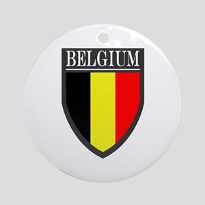 Belgium Flag Patch Ornament (Round)