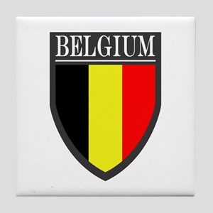 Belgium Flag Patch Tile Coaster