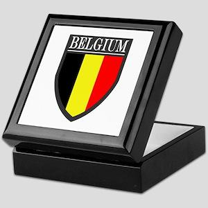 Belgium Flag Patch Keepsake Box