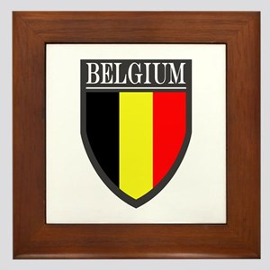 Belgium Flag Patch Framed Tile