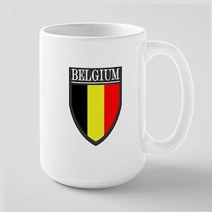 Belgium Flag Patch Large Mug