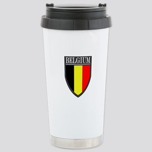 Belgium Flag Patch Stainless Steel Travel Mug