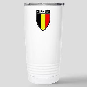 Belgium Flag Patch Stainless Steel Travel Mug
