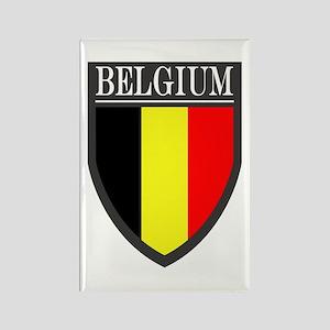 Belgium Flag Patch Rectangle Magnet