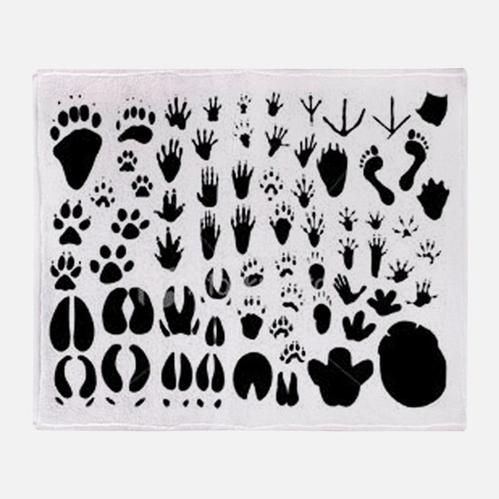 Animal Tracks Throw Blanket