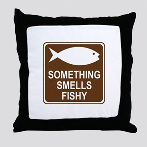 Something Smells Fishy Throw Pillow
