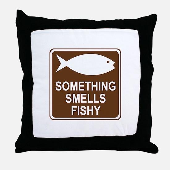 Something Smells Fishy Throw Pillow