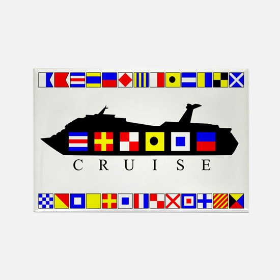Cruise Signal Flags-b Rectangle Magnet