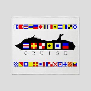 Cruise Signal Flags-b Throw Blanket