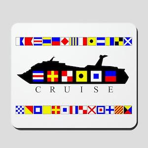 Cruise Signal Flags-b Mousepad