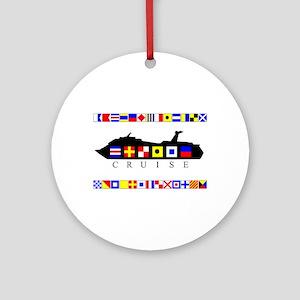 Cruise Signal Flags-b Ornament (Round)