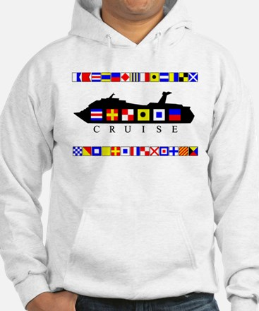 Cruise Signal Flags-b Jumper Hoody