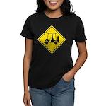 Caution Golf Cart Crossing Women's Dark T-Shirt