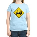 Caution Golf Cart Crossing Women's Light T-Shirt