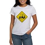 Caution Golf Cart Crossing Women's T-Shirt