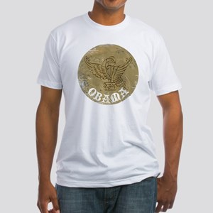 Vintage Obama Medieval Fitted T-Shirt