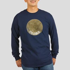Vintage Obama Medieval Long Sleeve Dark T-Shirt