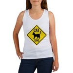 Caution Cat Crossing Women's Tank Top