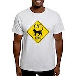 Caution Cat Crossing Light T-Shirt