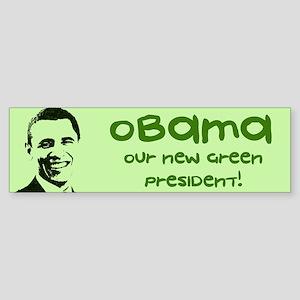 Obama Green President Bumper Sticker