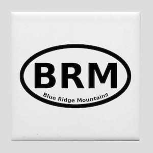 Blue Ridge Mountains Oval Tile Coaster
