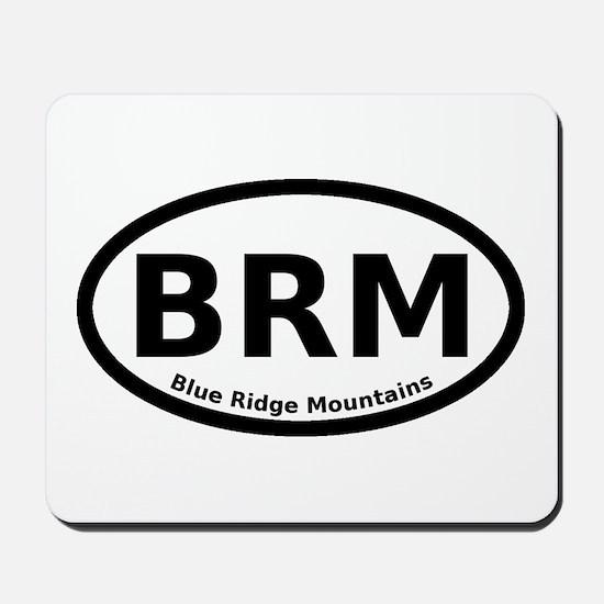 Blue Ridge Mountains Oval Mousepad