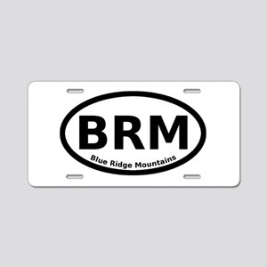 Blue Ridge Mountains Oval Aluminum License Plate