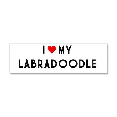 I Love My Labradoodle Car Magnet