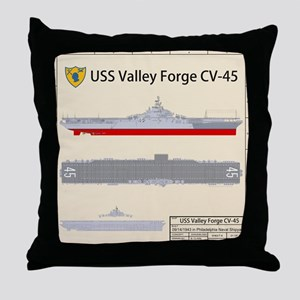 USS Valley Forge CV-45 CVA-45 Throw Pillow