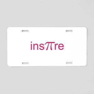 "Original Pink Ins""Pi""re Aluminum License Plate"