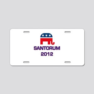 Santorum 2012 Aluminum License Plate