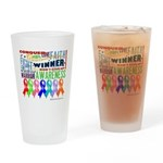 Ribbons For a Cause Drinking Glass