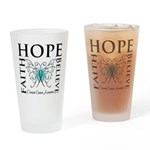 Ovarian Cancer Butterfly Pint Glass