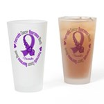 Pancreatic Cancer Month Ribbon Drinking Glass