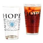 Hope Faith Prostate Cancer Pint Glass