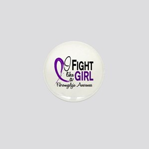Fight Like A Girl Fibromyalgia Mini Button