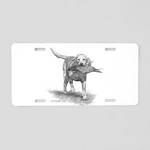 Yellow Labrador Retriever Aluminum License Plate