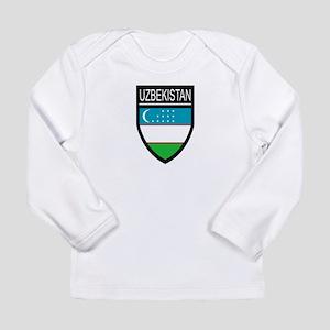 Uzbekistan Patch Long Sleeve Infant T-Shirt