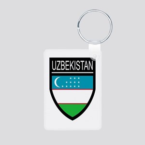 Uzbekistan Patch Aluminum Photo Keychain