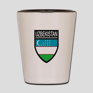 Uzbekistan Patch Shot Glass