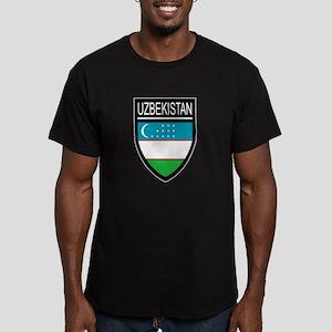 Uzbekistan Patch Men's Fitted T-Shirt (dark)