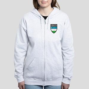 Uzbekistan Patch Women's Zip Hoodie