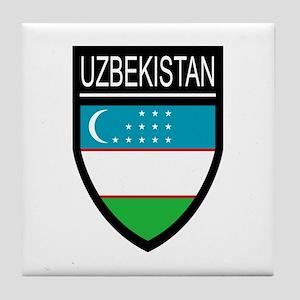 Uzbekistan Patch Tile Coaster
